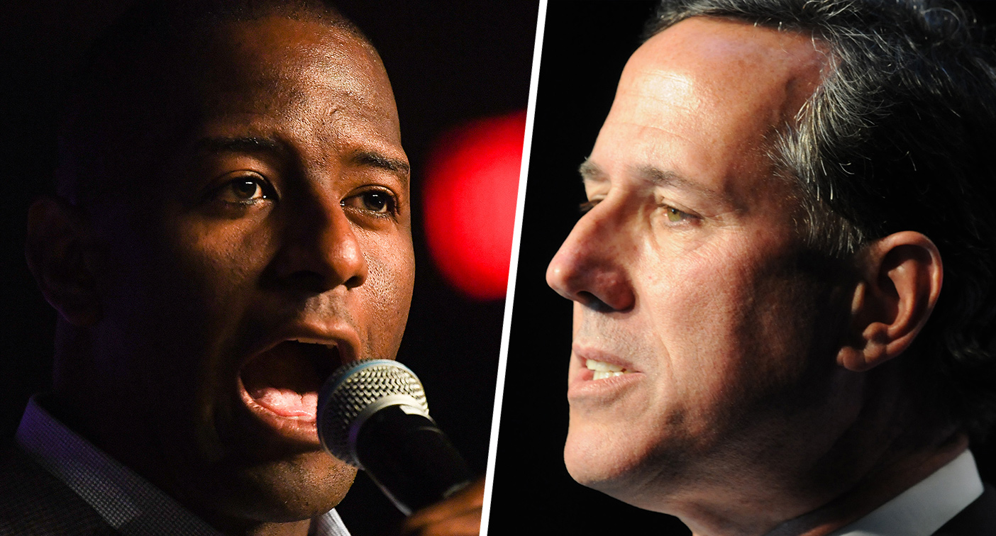 That is ridiculous: Andrew Gillum rips Rick Santorum for claiming guns arent problem in mass shootings