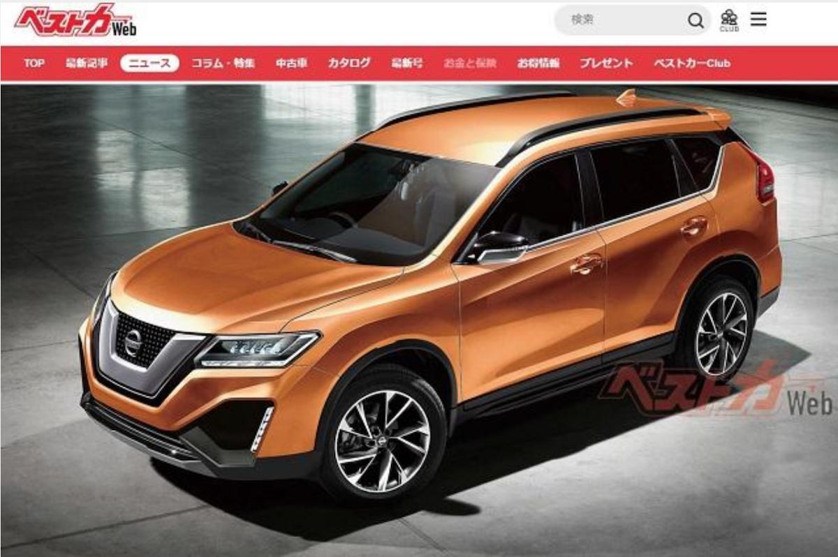 此為日媒《Bestcarweb》公佈 X-Trail 預想圖,當時有不少人猜測,下一代 X-Trail 外型設計會來自 Xmotion 概念休旅車。