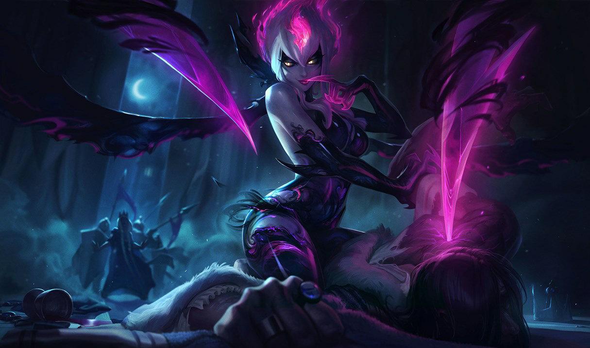 對三名最近的敵人造成魔法傷害,並往後傳送三格。(對生命低於65%的敵人則造成300%/500%/700%系數的傷害)