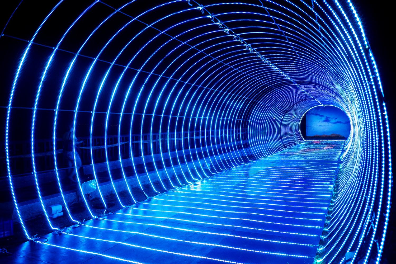 燈光展區隧道 (圖片來源:菊島歡樂遊-澎湖國家風景區FB)
