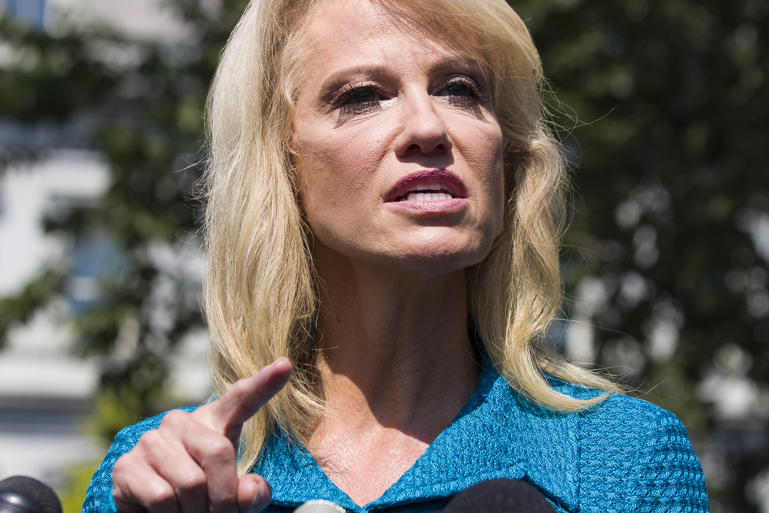 Kellyanne Conway is mad media downplays Dayton shooters liberal views, although no link is seen to massacre