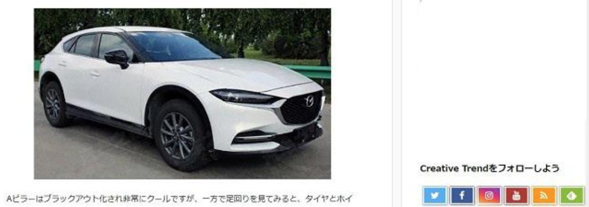 由於 CX-4 車長比 CX-5 多了一些,透過新的面容詮釋下,展現更強烈的氣勢。