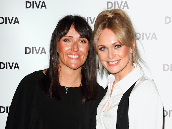 Michelle Hardwick (R) and guest at the DIVA Magazine Awards at the The Waldorf Hilton, Aldwych, London. (Photo by Keith Mayhew/SOPA Images/LightRocket via Getty Images)