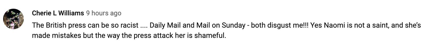 (Screenshot: Naomi Campbell via YouTube)