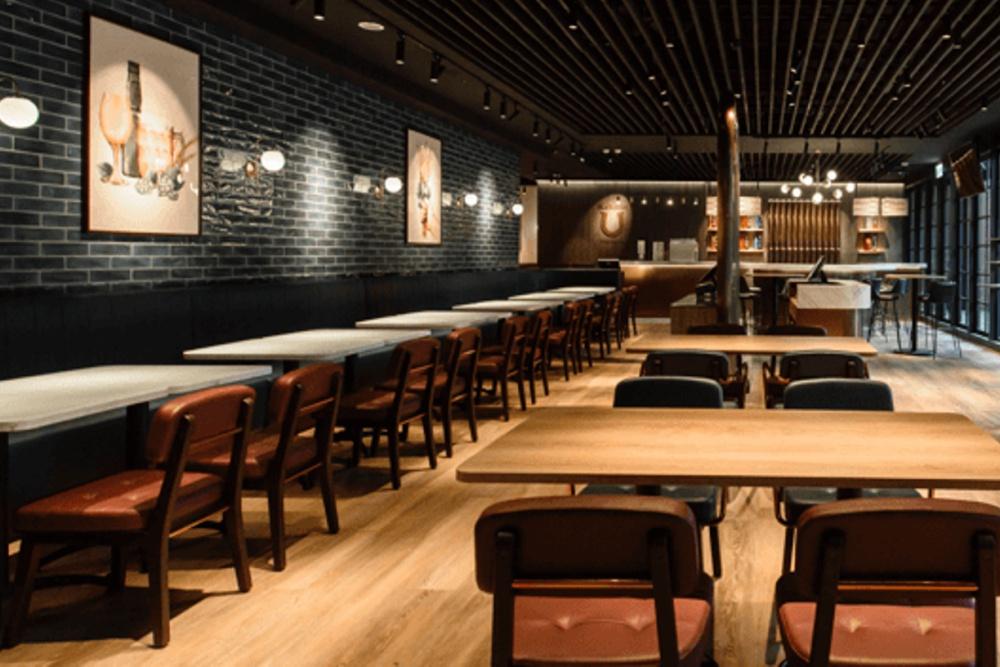 松仁店室內空間為時髦都會風,寬敞舒適。