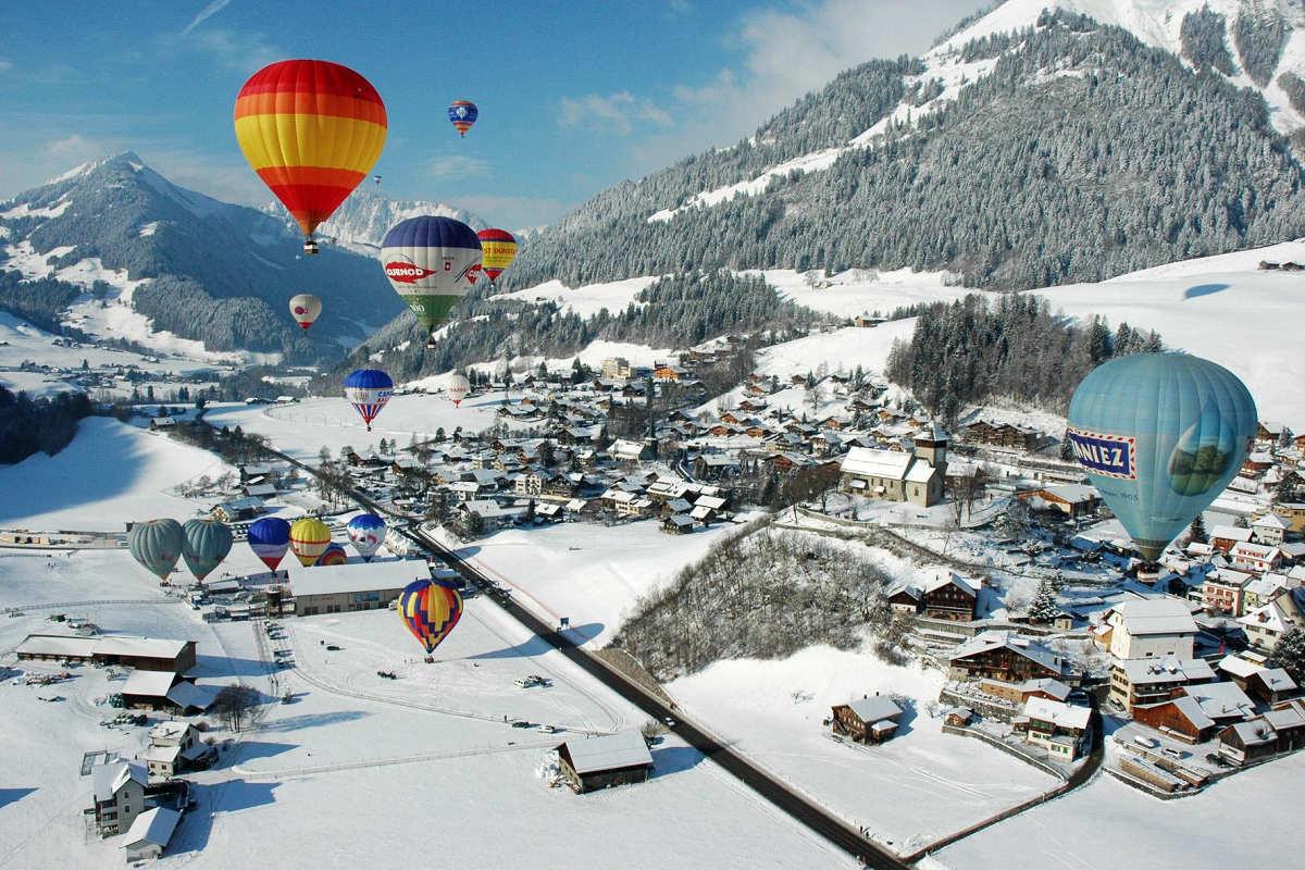 瑞士奧克斯堡國際熱氣球節 (圖片來源:https://www.chateau-doex.ch)