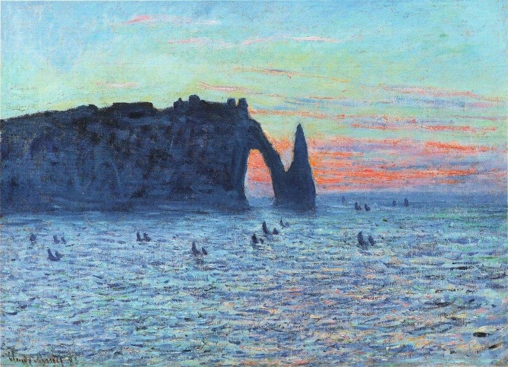 《Falaises d'Étretat》of Claude Monet (Wikimedia Commons提供)