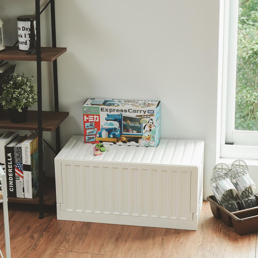 ▲有度量又強壯的收納箱,可以裝重物也可以當椅子。(圖片來源:Yahoo購物中心)