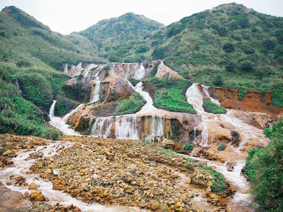 黃金瀑布(圖片來源:新北市觀光旅遊網)