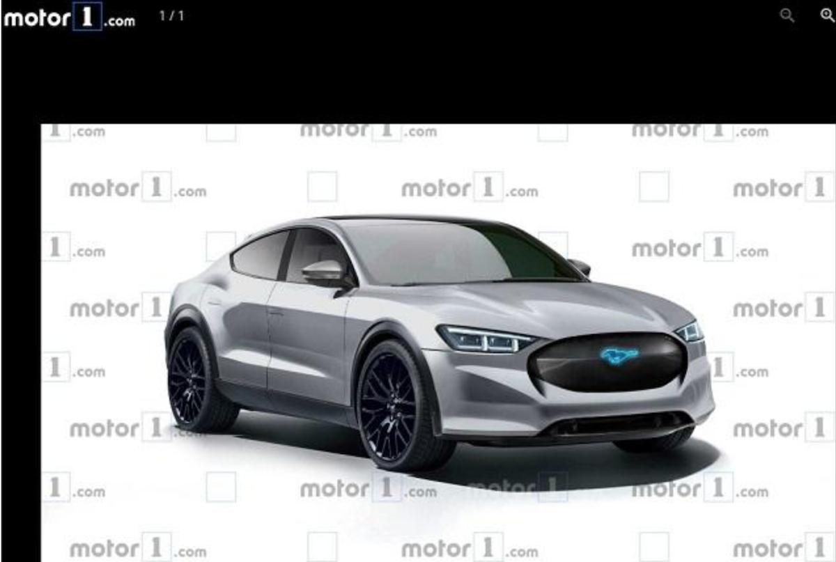 此為外媒《Motor 1》繪製的 Mach-E 最新預想圖。