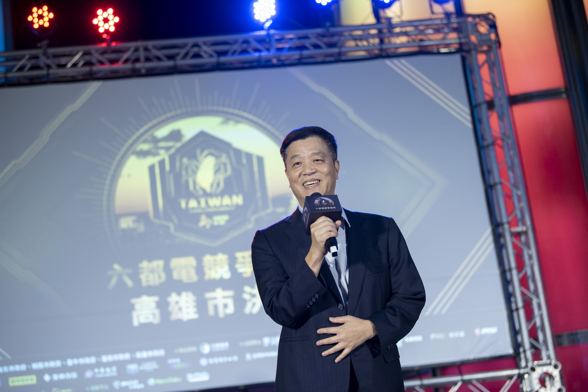 ▲高雄市副市長陳雄文蒞臨決賽現場致詞。(攝影:李昆翰)