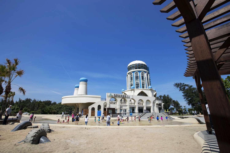 讓孩子消暑的親子沙灘 (圖片來源:新竹市政府)