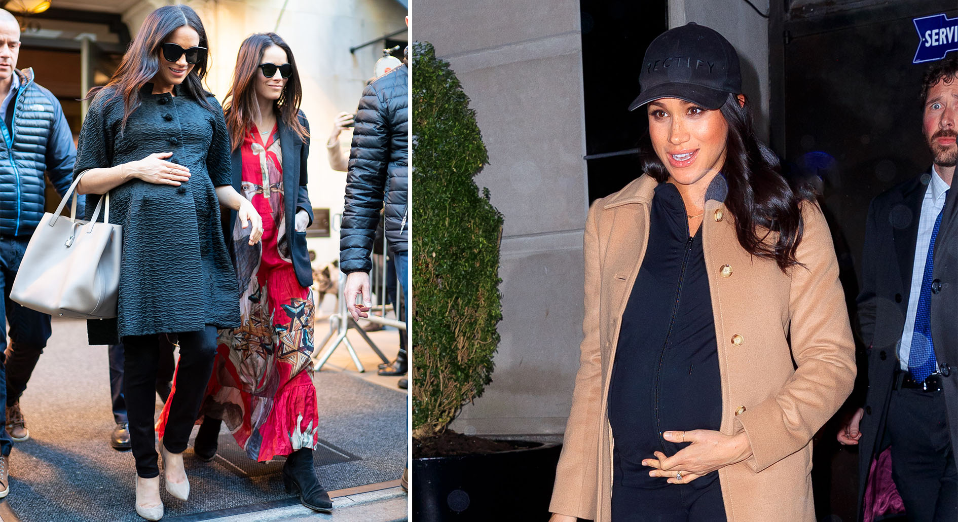 Meghan in New York for her baby shower. [Photos: Getty]