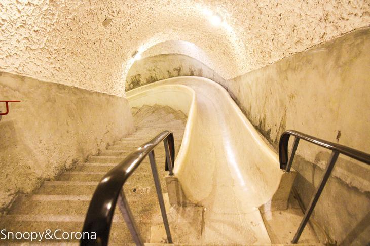 圓山大飯店的密道滑梯9/1開放遊客參觀,揭開地下通道的神秘面紗。圖/駐站達人-史努比遊樂園