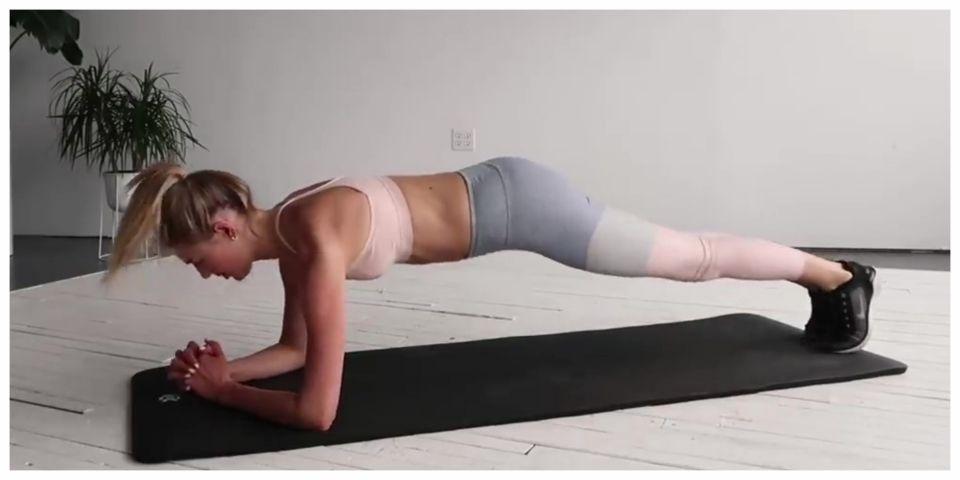 【VG享受運動】10分鐘有氧肌力平衡組合全身訓練 跟著仙女超模Sanne Vloet在家徒手健身
