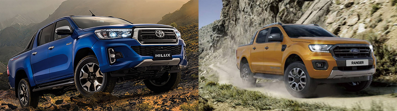 圖/Toyota Hilux 2.8與Ford Ranger 2.0 Bi-Turbo Wildtrak經典皮卡對決。