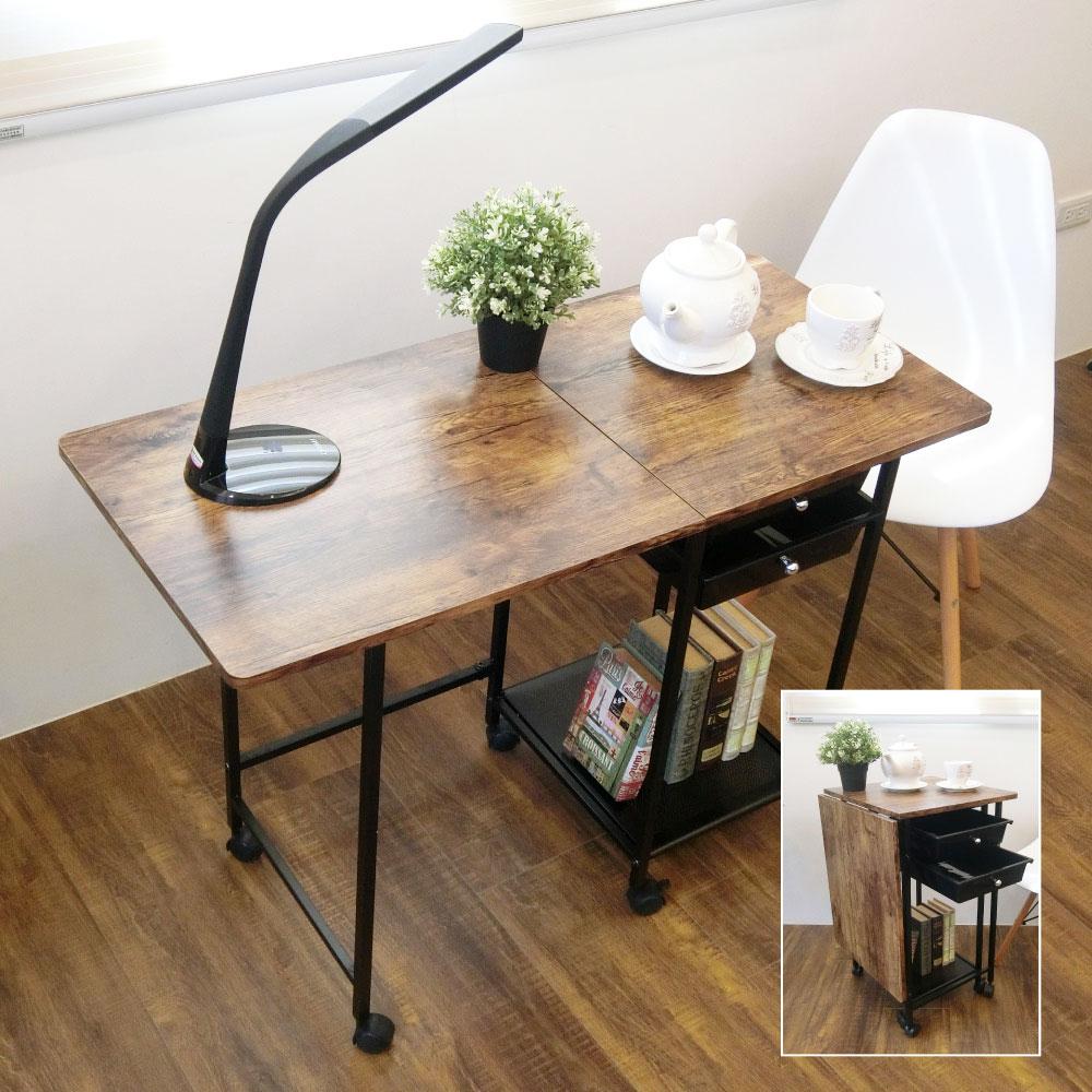 ▲桌身輕巧用途多元,是單人書桌也是多人餐桌。(圖片來源:Yahoo購物中心)