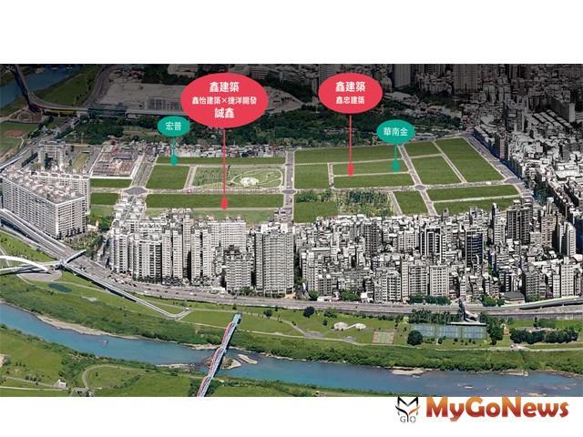 ▲新店央北 建商群聚「搶地」,鑫建築團隊「誠鑫」開賣2個月已經創下了六成的佳績(圖:業者提供)