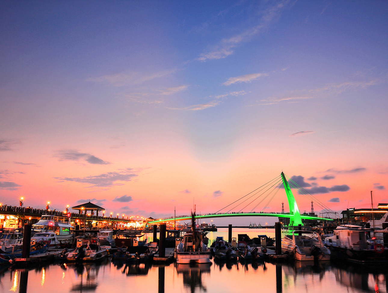 漁人碼頭夕陽美景 (圖片來源:新北市觀光旅遊網)