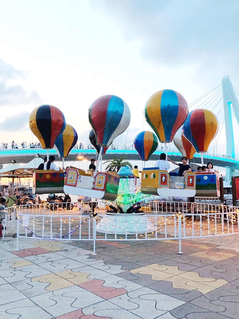 漁人碼頭深受民眾喜愛的熱氣球 (圖片來源:新北市政府)