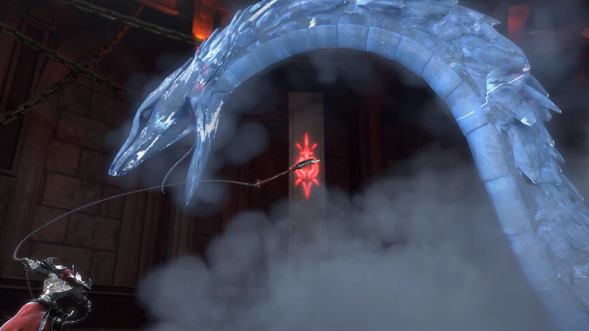 ▲女主角「余靖秋」施展玄冰祕法與雪鷹並肩作戰。
