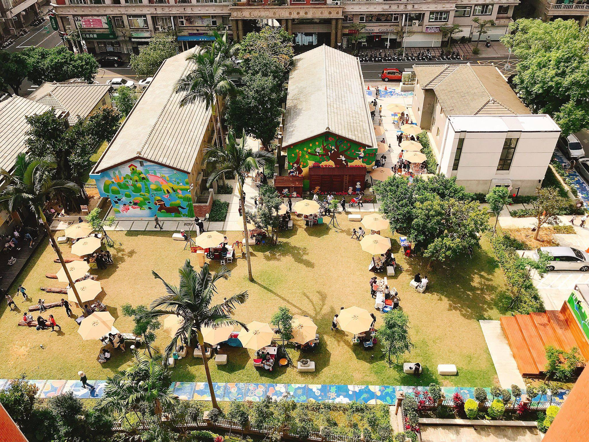 近期南崁兒童藝術村正式營運,吸引遊客爭相探訪。圖/桃園市政府文化局