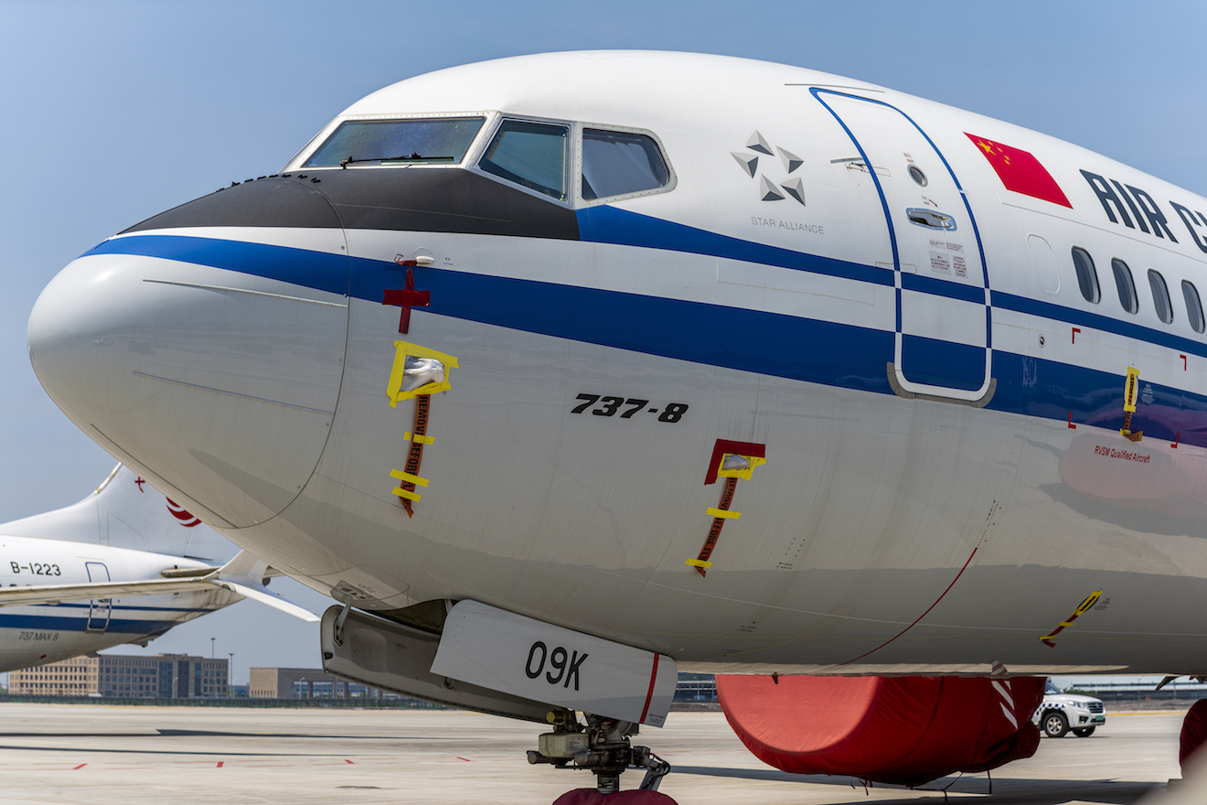 A Boeing 737 Max jet plane of Air China is parked at Beijing Capital International Airport (Picture: PA)
