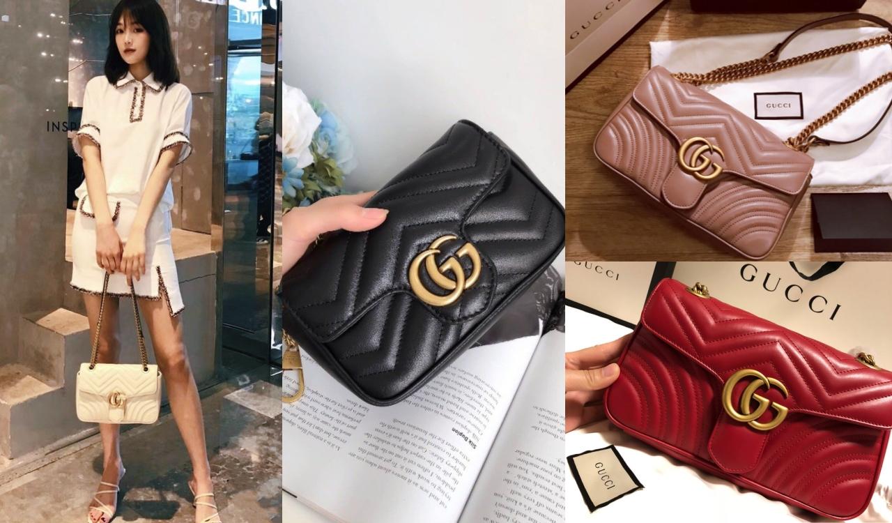 而经典的GG Marmont,更成为近两年时尚人士们追捧的明星包款