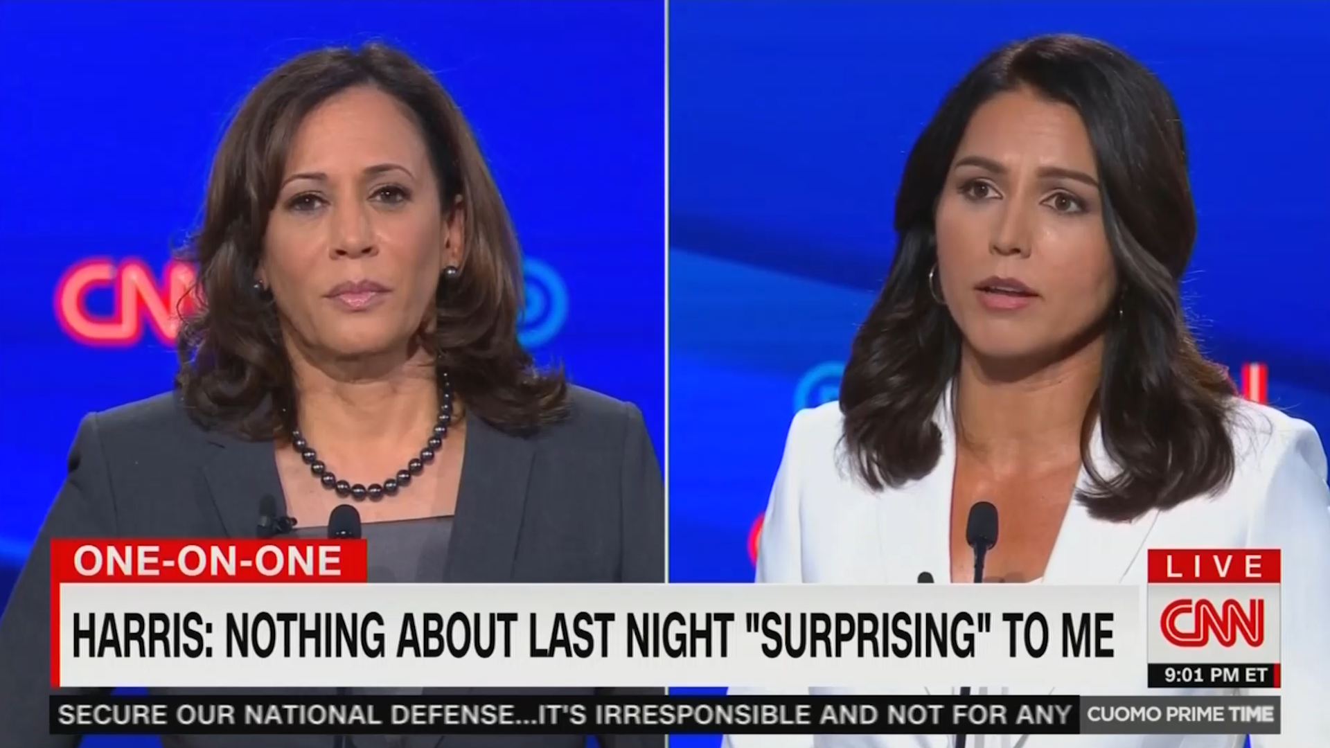 Tulsi Gabbard claims Kamala Harris campaign using cheap smears
