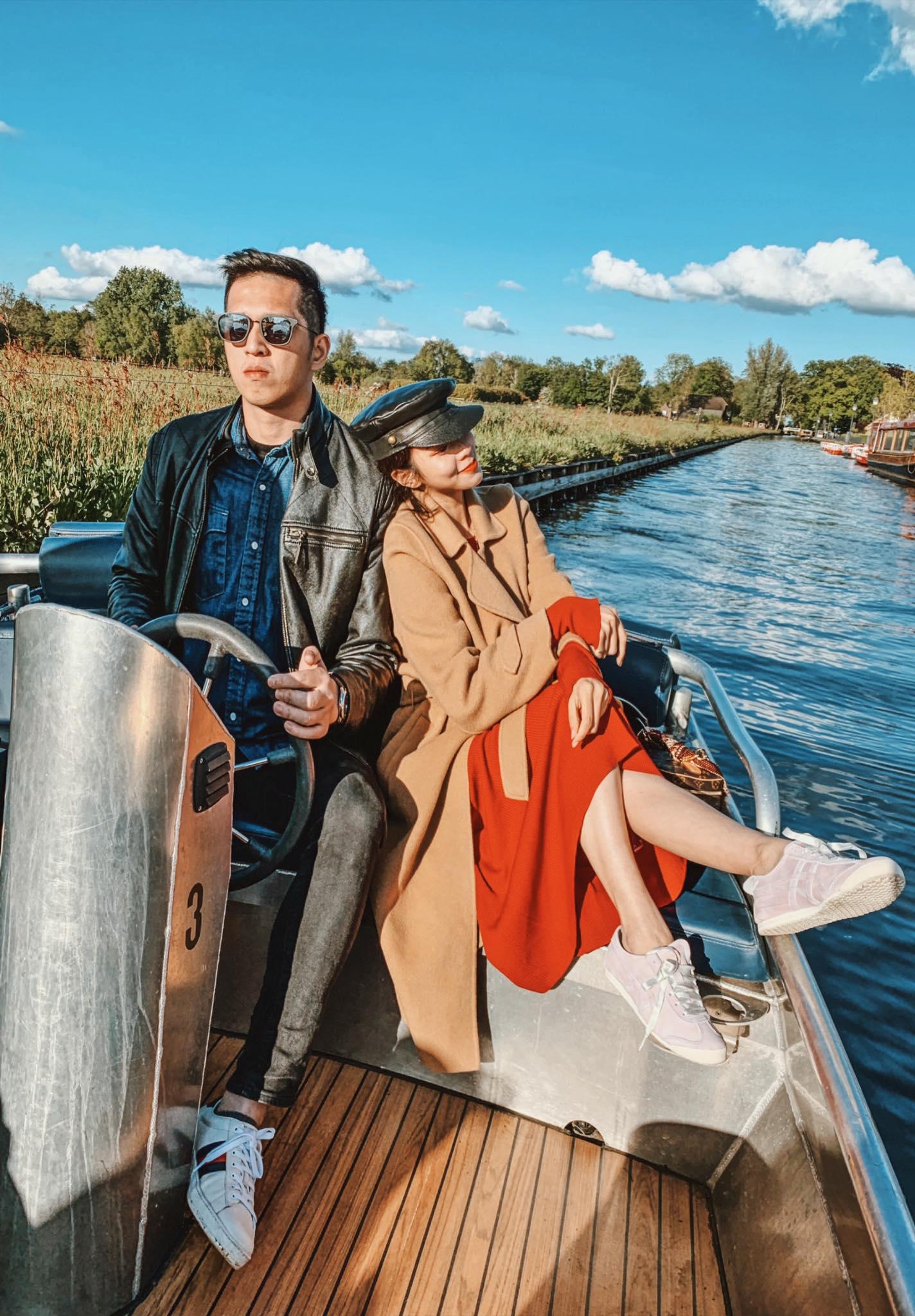▲阿姆斯特丹的羊角村可以搭船欣賞風景,唐葳認為很值得一遊。