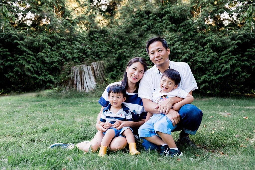 ▲李培禎趁著暑假,帶著孩子們回加拿大溫哥華的娘家玩。