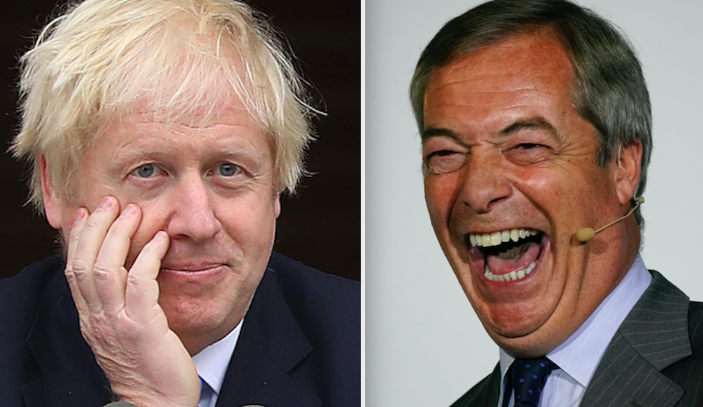 Nigel Farage has reportedly set out terms for an electoral pact with Boris Johnson (GETTY)
