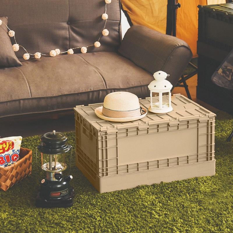 收納箱一轉身就成了小桌子。(圖片來源:Yahoo購物中心)