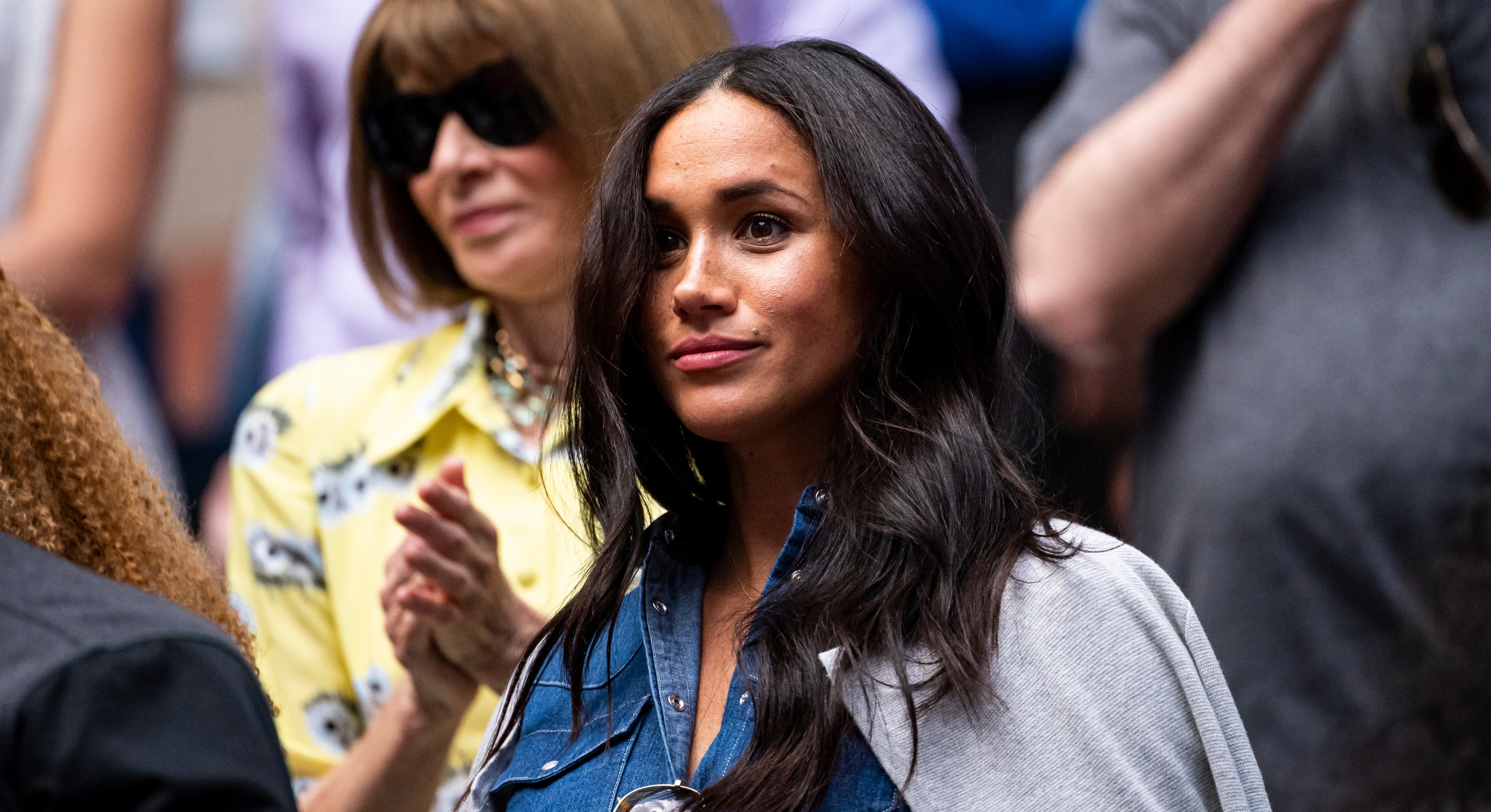 Meghan Markle attended a yoga class in New York ahead of watching Serena Williams at the US Open [Image: Getty]