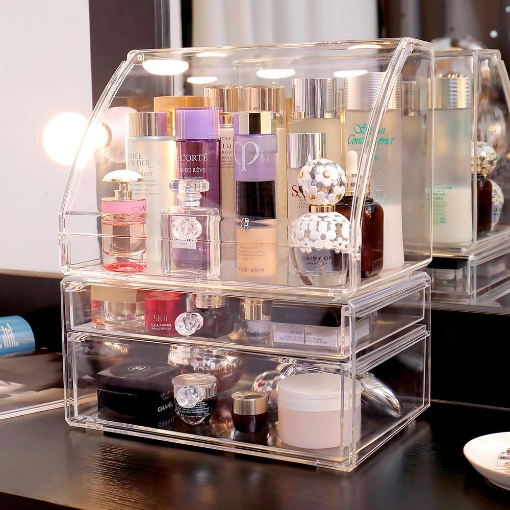 ▲加蓋防塵的透明盒,具備整齊清潔、簡單迅速且確實的特色,潔癖、理科適用。(圖片來源:Yahoo購物中心)