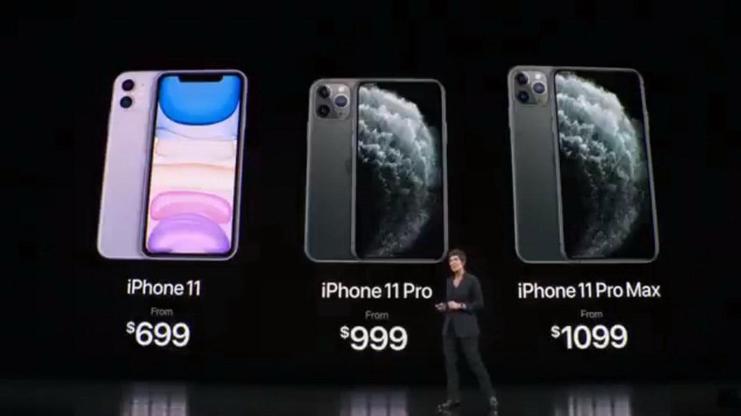 圖/iPhone 11 系列正式發表,配備A13仿生晶片及第三代神經引擎。(Apple直播畫面)