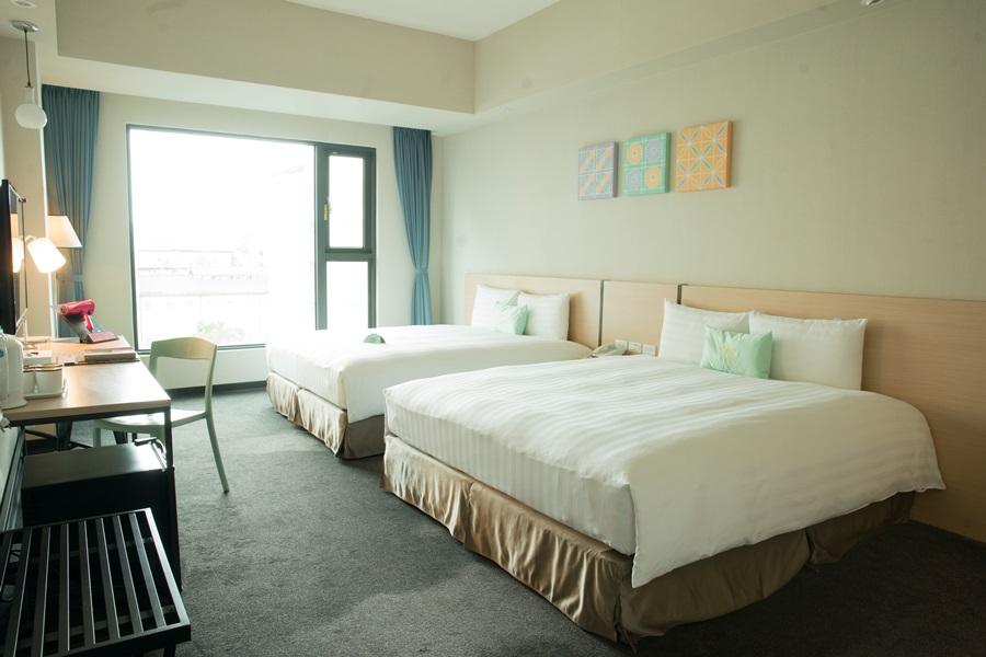 整體客房設計自在舒適。攝影/李文欽