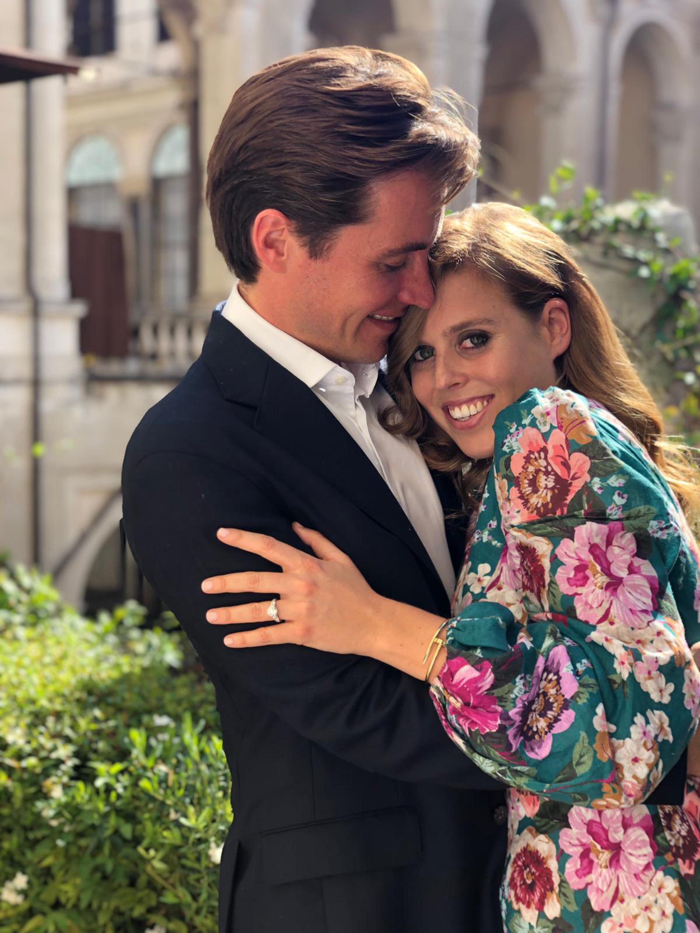 Princess Beatrice and Mr Edoardo Mapelli Mozzi announce their engagement. [Photo: PA]