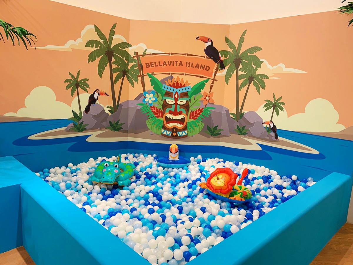 無人島球池(圖片來源:BELLAVITA)