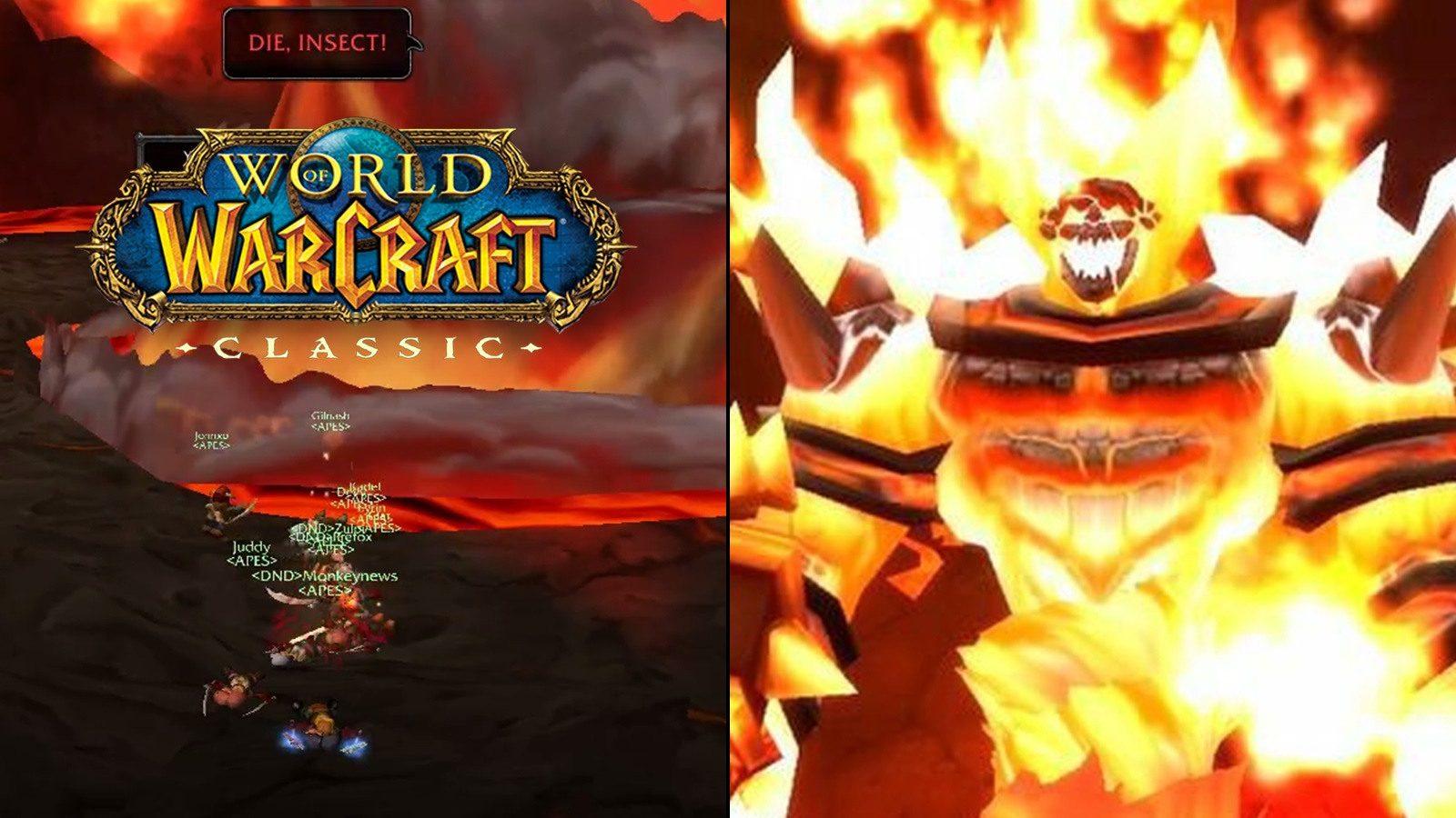 《魔獸世界》經典版與拉格納羅斯