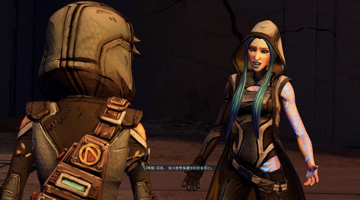 亞娃非常後悔,最後一次說話是為了爭吵。(圖源:Borderlands3)
