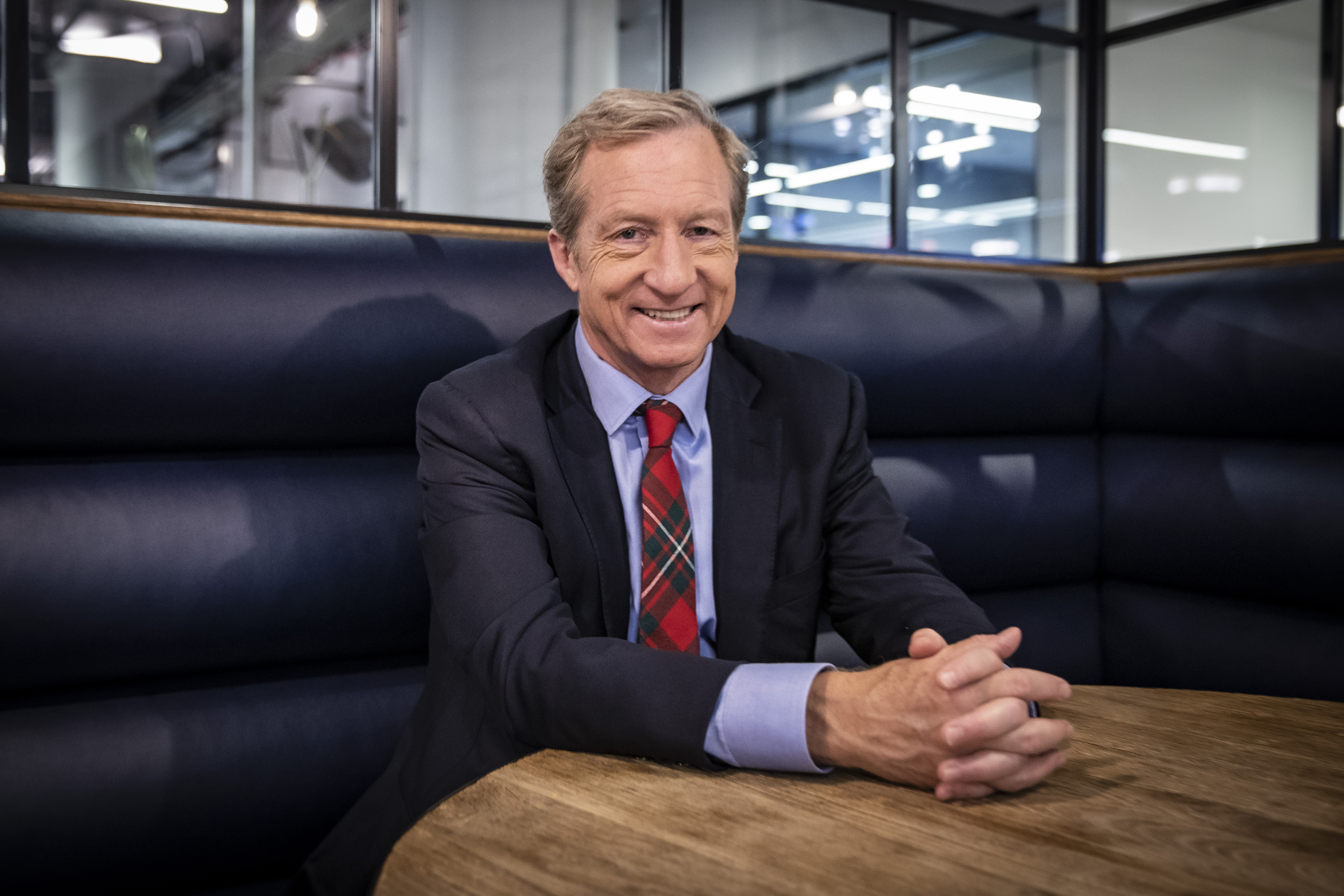 Democratic candidate Tom Steyer backs rival Joe Biden around impeachment inquiry, says he should be left out of this