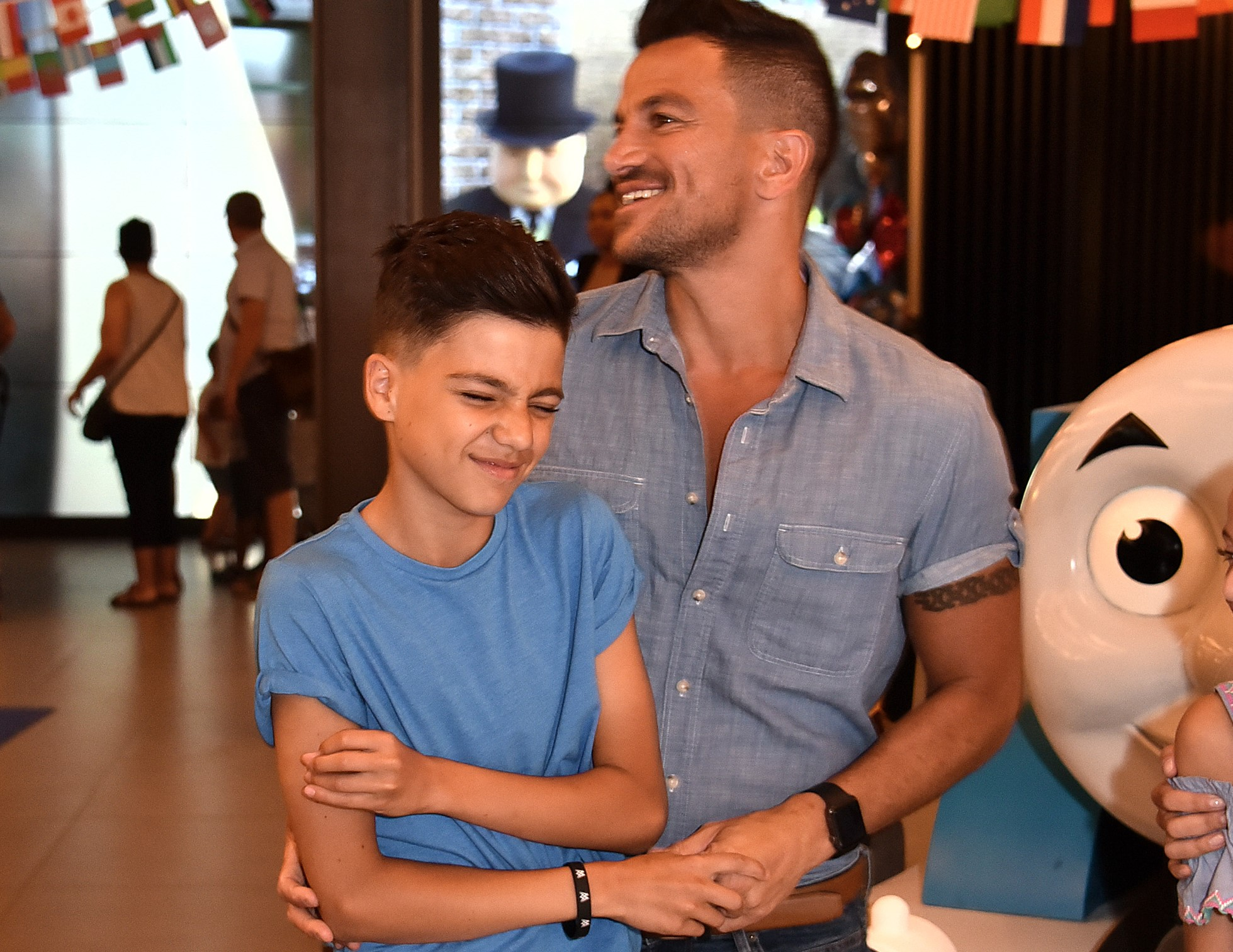 Peter Andre and son Junior last year (Credit: Getty Images)