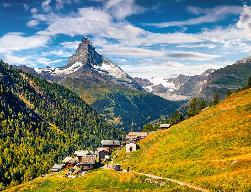 圖/瑞士三大名峰之一馬特洪峰,有山中之王的美名,玉樹臨風昂然聳立,帥氣姿態無不讓人怦然心動!