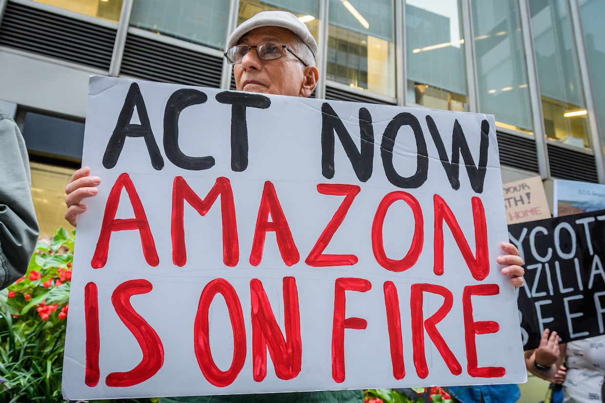 There have been worldwide protests against the burning of the Amazon rainforest (Picture: PA)