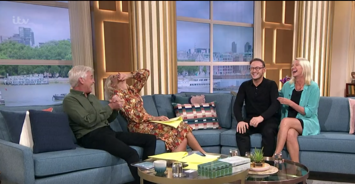 Phillip Schofield and Holly Willoughby couldn't stop laughing (Photo: ITV)