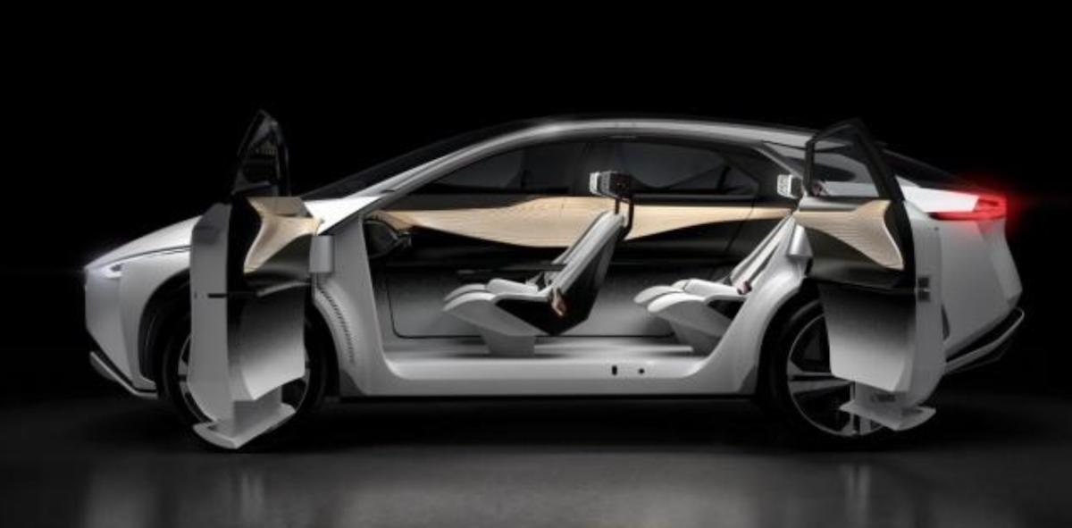 車室採用寬敞的風格,並大量使用觸控取代實體按鍵。圖為概念車。