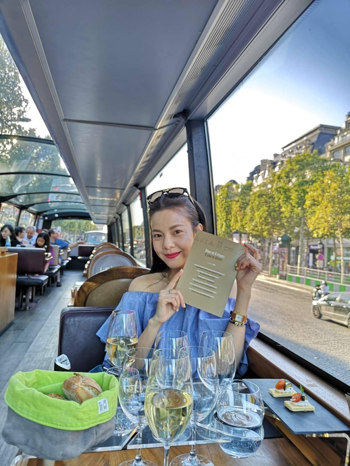 ▲劉馨如造訪法國著名的巴黎鐵塔、羅浮宮。