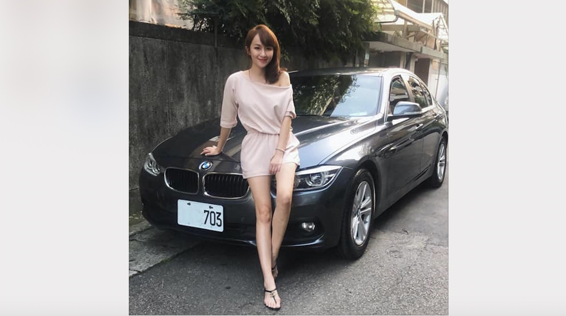 【明星聊愛車】美女主播蔡逸帆生日喜收老公禮物BMW 320d 學開車最後一堂課竟是挑戰九彎十八拐?