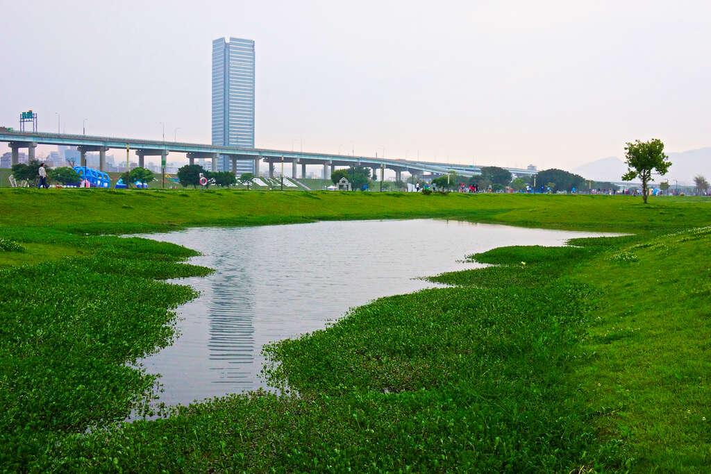 新北大都會公園面積達424公頃,擁有廣袤綠地與各式各樣的休閒設施。圖/臺北旅遊網